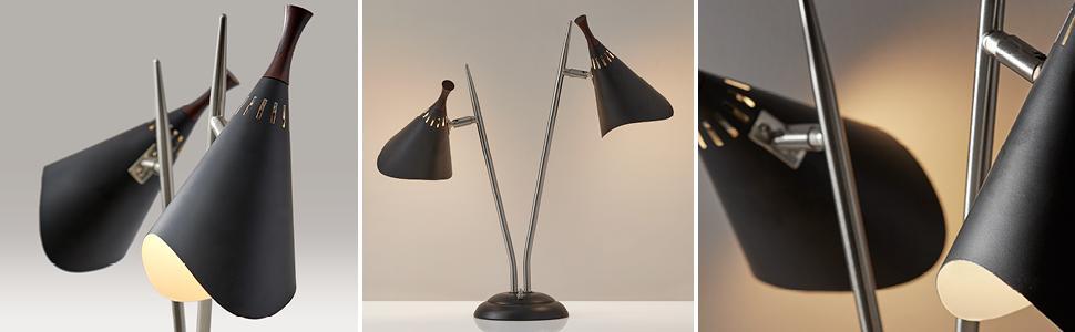 Amazon Com Adesso 3235 01 Draper 2 Light Desk Lamp Smart