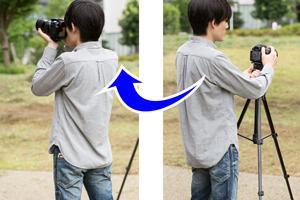 カメラをサッと取り外し可能