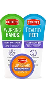 O'Keeffe's Lip Repair Lip Balm for Dry, Cracked Lips, Stick (Pack of 3: 1 Cooling + 1 Unscented  SPF
