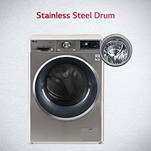 LG front load stainless steel drum