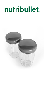 NutriBullet Set of 2 Handled Lip Rings