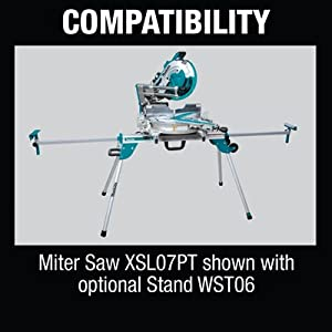 compatibility miter saw shown with optional stand WST06