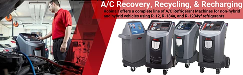 Bosch Robinair Automotive Air Conditioning A/C Recharging Recovery Recycling Machine R-12 R-134a