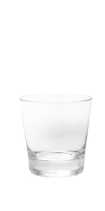 Compare the details of these crystal rocks glasses.