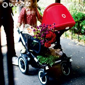 bugaboo donkey, double stroller, stroller with large basket, bugaboo, convertible stroller, twins