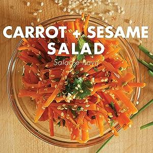 carrot and sesame salad, persian cooking, joon