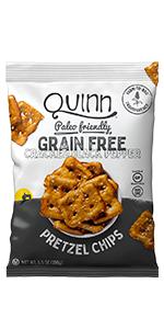cracked black pepper grain free pretzel chip healthy clean snacks paleo quinn