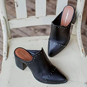 Report Shoes TRE studded mules a9167363eb6c