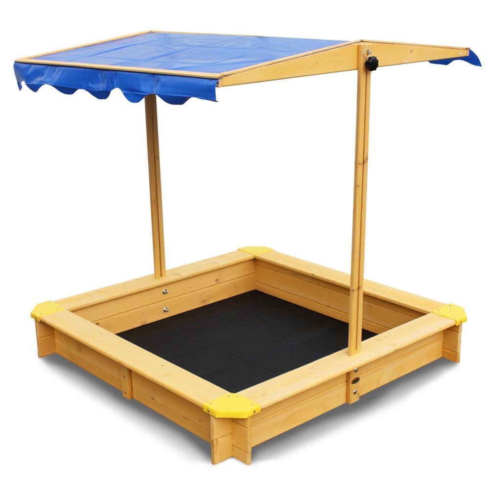 habau 3024 sandkasten tino mit senkbarem dach. Black Bedroom Furniture Sets. Home Design Ideas