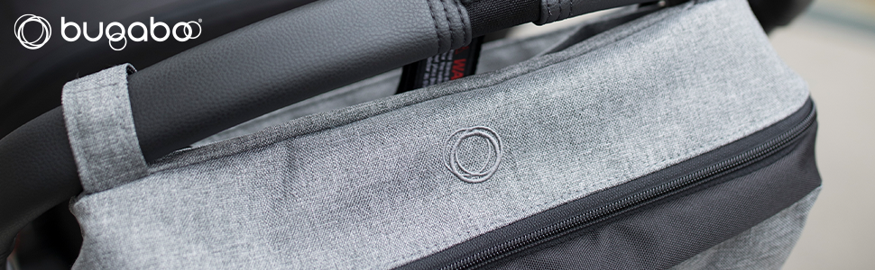 Bugaboo Stroller Organizer, Blue Mélange - Compatible with Any Stroller - Attaches to The Handlebar or...