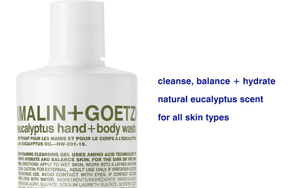 eucalyptus hand + body wash