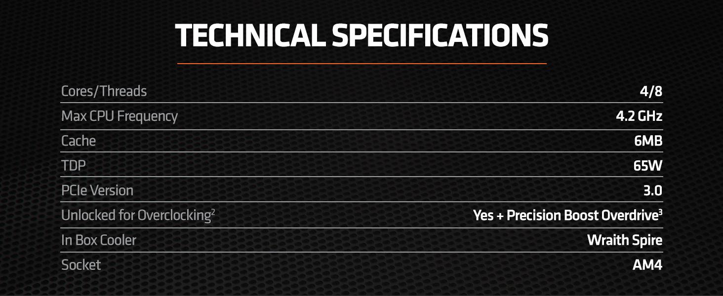 AMD RYZEN 5 3400G 4-Core, 8-Thread Unlocked, 3.7 GHz (4.2 GHz Max Boost) Desktop Processor 13