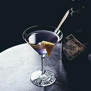 Illusionist Dry Gin, Organic, Blue Gin, Cocktails, Martini