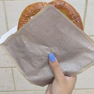 get, g.e.t., paper, food safe, pretzel, food truck, state, fair, brown, bag, paper, grease