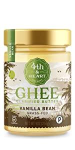 fourth and heart 4th madagascar vanilla bean ghee clarified butter grass fed lactose free keto