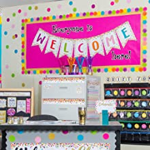Confetti Pennants Welcome Bulletin Board Display & Presentation Supplies