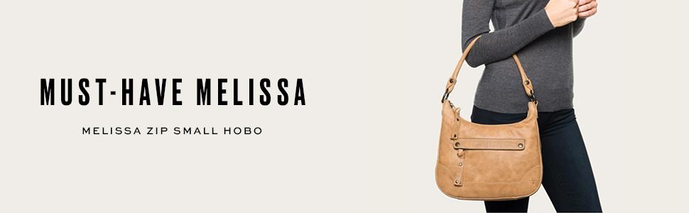55334401e5 FRYE Melissa Zip Small Leather Hobo Crossbody
