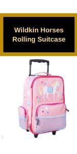 wildkin horses rolling suitcase