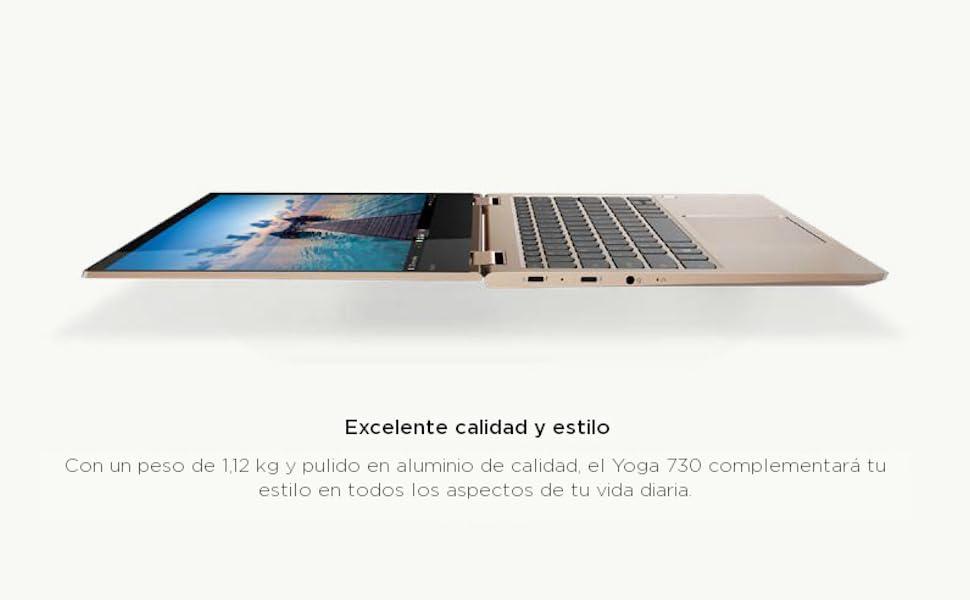 Lenovo Yoga 730 - Ordenador portátil táctil Convertible 13.3 ...