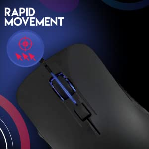 R8 Wired Gaming Mouse, 1600 DPI Adjustable,6D Button Comfortable Grip Ergonomic Optical PC Computer
