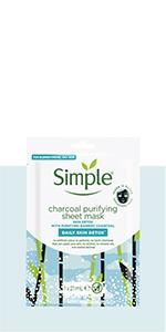 Daily Skin Detox Charcoal Purifying Sheet Mask reinigt en zuivert, bamboe houtskool