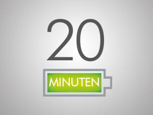 20 Minuten Laufzeit