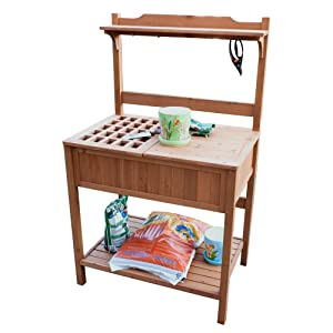 Amazon Com Merry Garden Potting Bench With Recessed Storage Garden