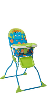 5681a9990a948 Cosco Simple Fold High Chair with Three-Position Tray · Cosco Simple Fold  Deluxe High Chair · Cosco Monsters Simple Fold Deluxe High Chair with ...