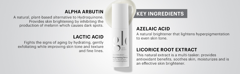 Glo Skin Beauty Brightening Serum | Treatment for Dark Spots |  Hydroquinone-Free, Natural Brightening