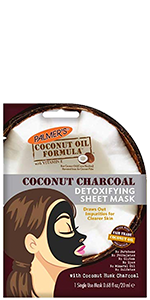 Coconut charcoal detoxifying sheet mask