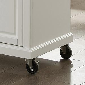 Full size kitchen cart foot detail