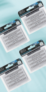 Ardell Lashes Individuals - Short Brown, 4 Pack