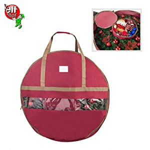 Christmas Artificial 24 inch green Holiday Wreath artificial storage bag box container 48 in 36