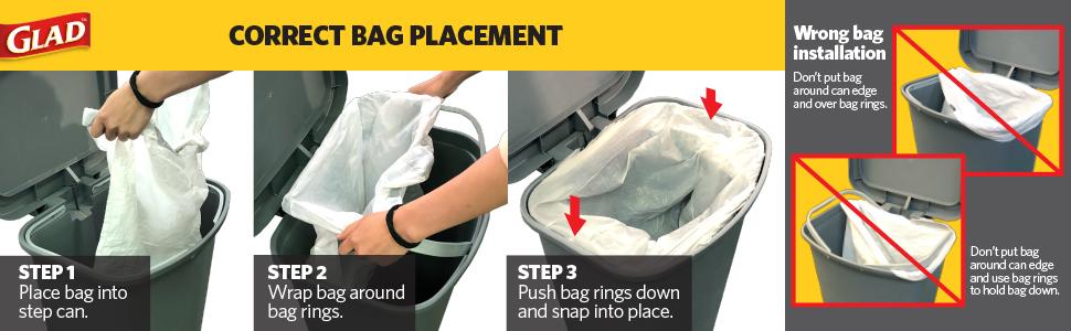 trash can  step waste bin user instruction glad