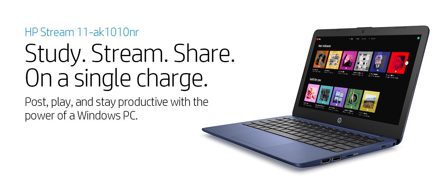 hp stream laptop notebook 11-ak1010nr