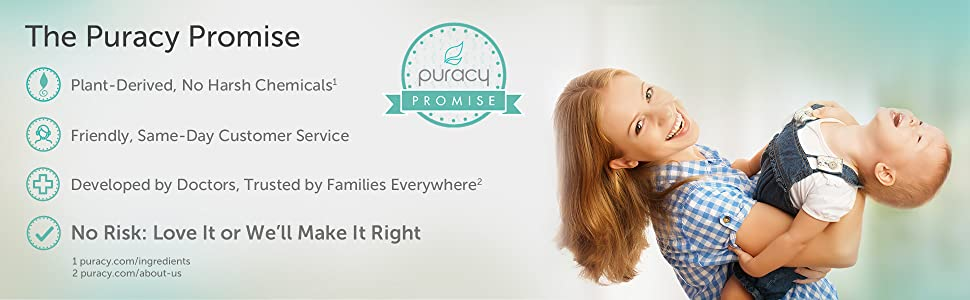 Puracy Natural Laundry Detergent (Free & Clear) Promise