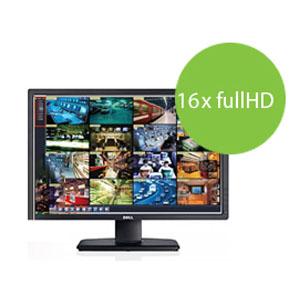 CCTV NVR Grabadora de vídeo par cámara de Seguridad PNI House 1080P - 16 Canales Full HD 1080P 2MP, soporta hasta 2 x 4 TB HDD, Salidas VGA/HDMI, Control Remoto y ratón