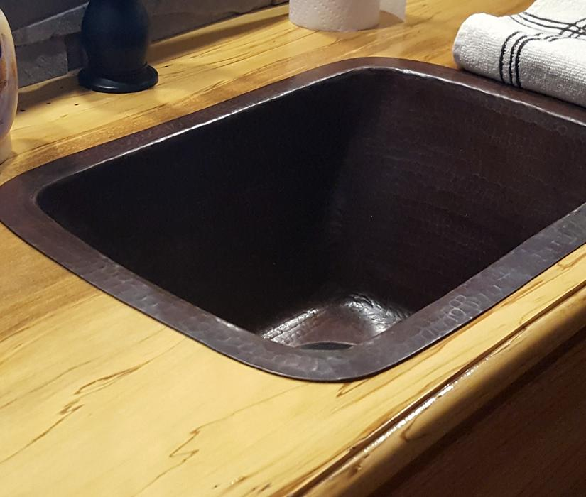 Drop In, Copper Prep Sink, Drop In Bar Sink, Rustic Bar Design · View  Larger. Copper Prep Sinks ...