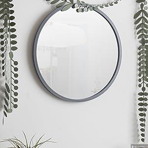 wall mirror, circle mirror, entryway mirror, bathroom mirror, vanity mirror, wall art, modern mirror