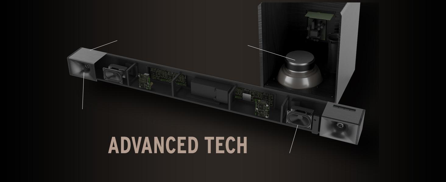 Klipsch Cinema 400 sound bar and wireless subwoofer, best sound bar, best wireless subwoofer