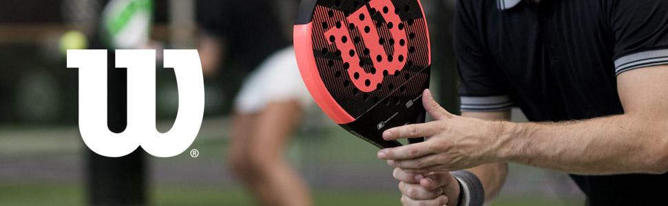 Wilson Carbon Force Pala de pádel, EVA/Núcleo de fibra de carbono, apto también para tenis playa, Unisex