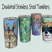 insulated stainless steel tumblers;commuter cups;mugs that;don't sweat;fit in cup holders;hot;cold
