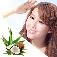sun protection spf aloe vera coconut hair mask nuray naturals