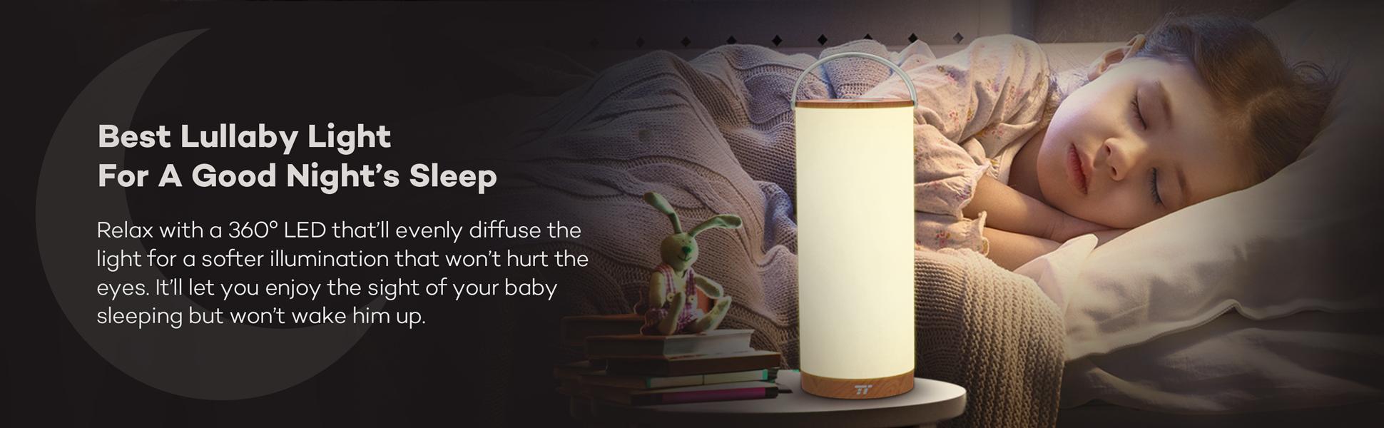 TaoTronics Rechargeable Touch Sensor Bedside Lamp, LED