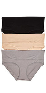 3 Pack Panty Fold Over Breifs