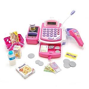 Tachan-Caja registradora little home, color rosa, (CPA Toy Group ...