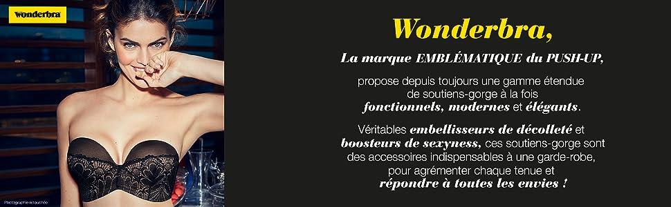 WONDERBRA AUTHENTIQUE SOUTIEN GORGE NIPPLE EFFET FAUX TETONS 90 B VAL 40 EUROS