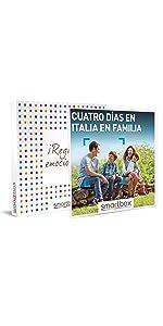 4 días en Italia en familia caja regalo Smartbox