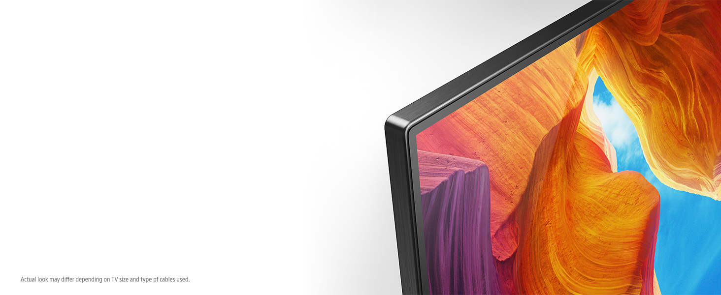 with a slim and flush design and thin aluminum bezel.