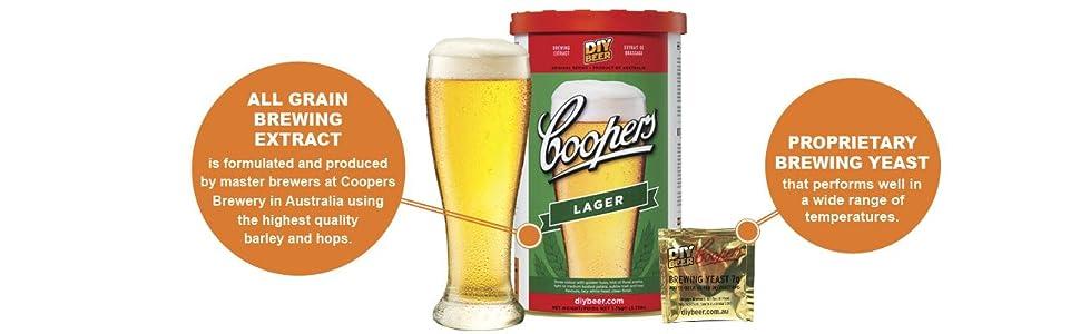 Juego para hacer cerveza Coopers